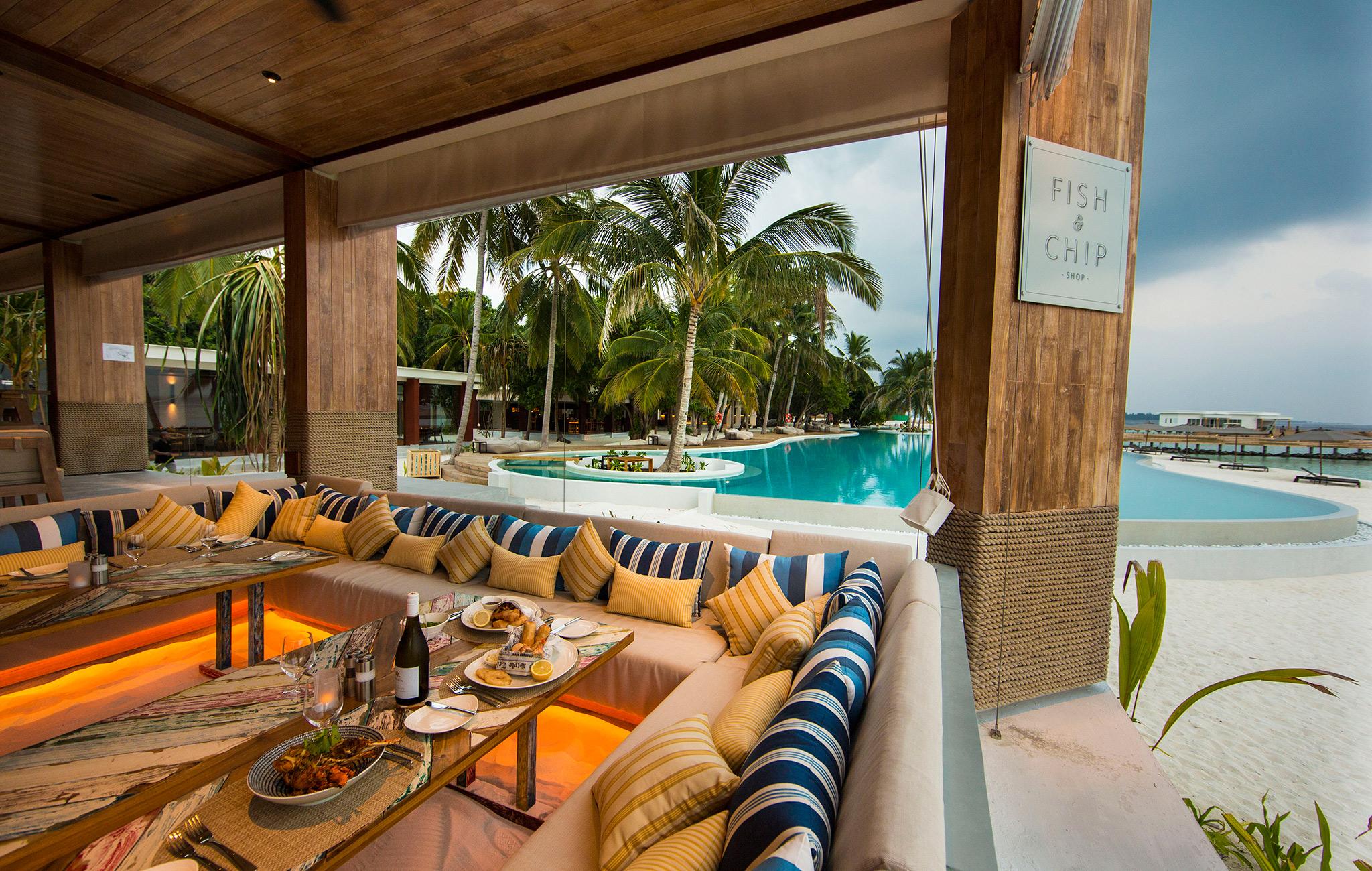 Fish & Chips Restaurant, Amilla Fushi, Baa Atoll, Malediven
