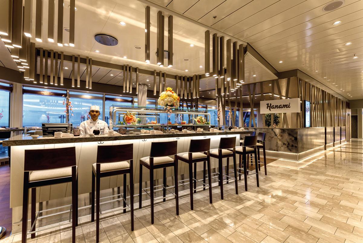 Mein Schiff 4, Hanami Restaurant auf Deck 4