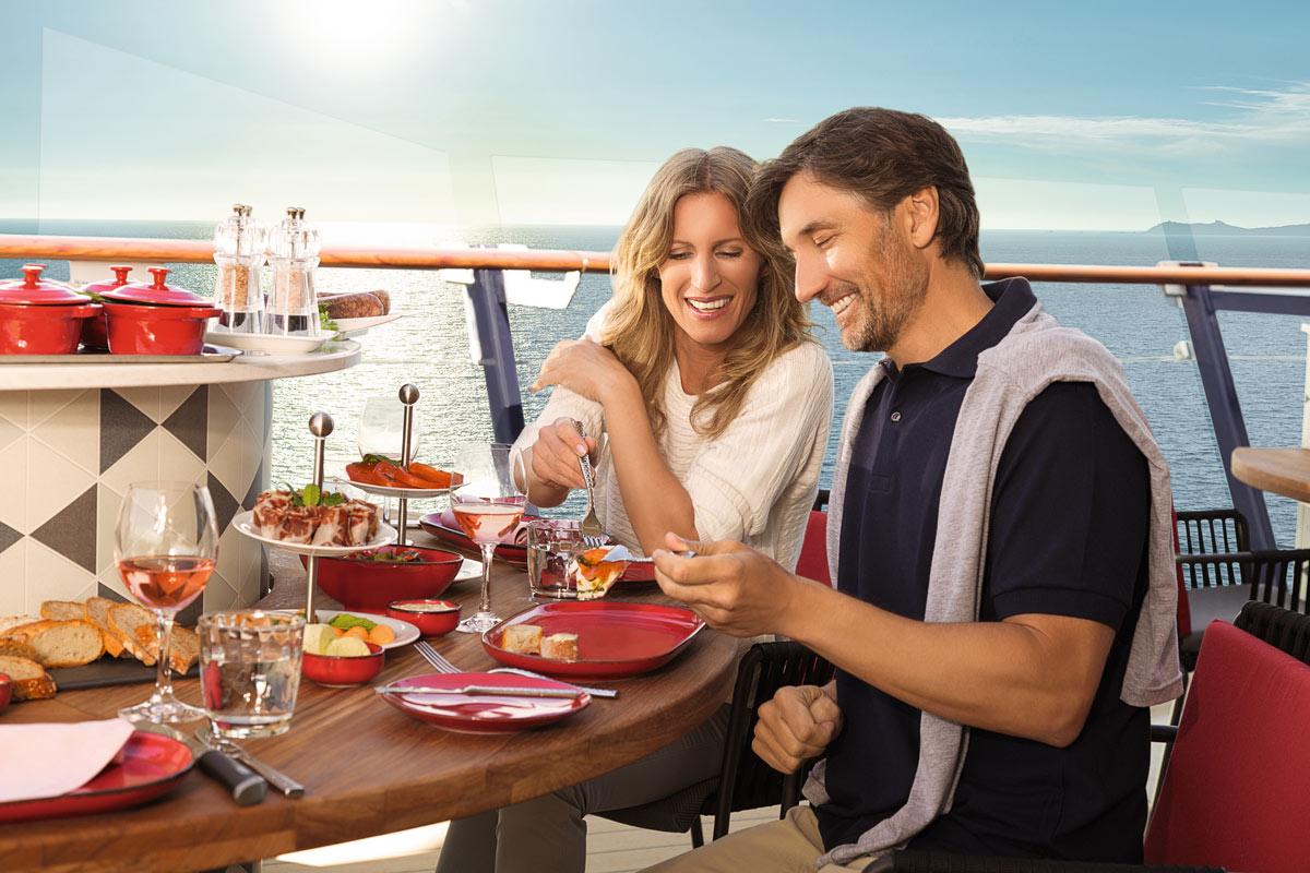 Bars und Restaurants auf der Mein Schiff 4