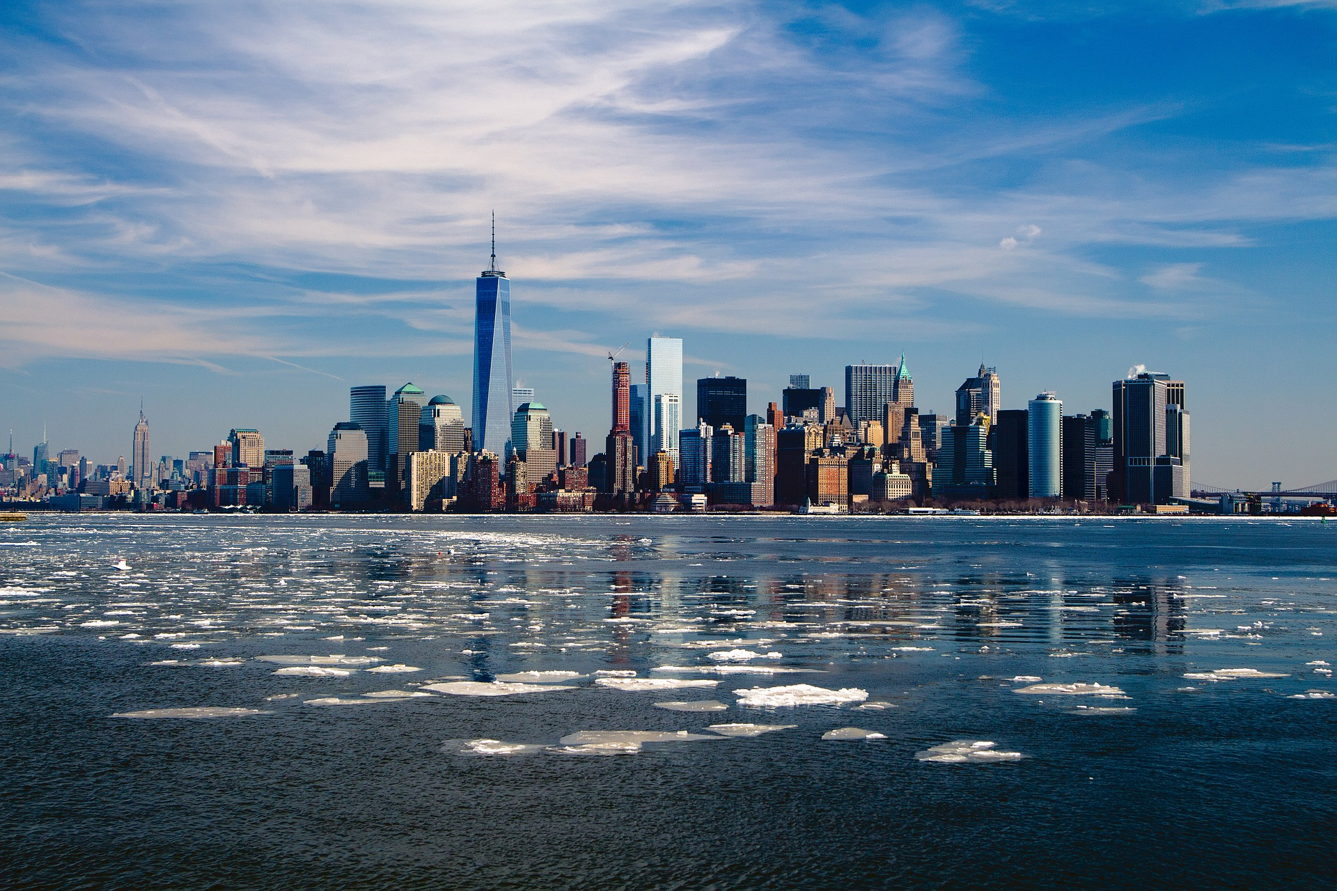 New York Skyline im Winter