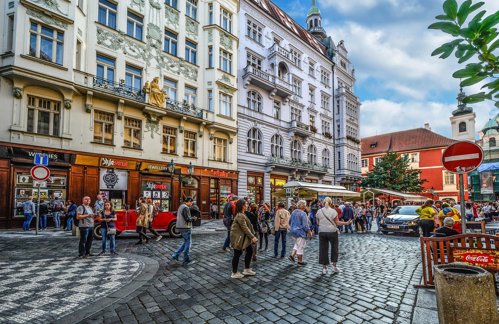 Street-cafes in Prag