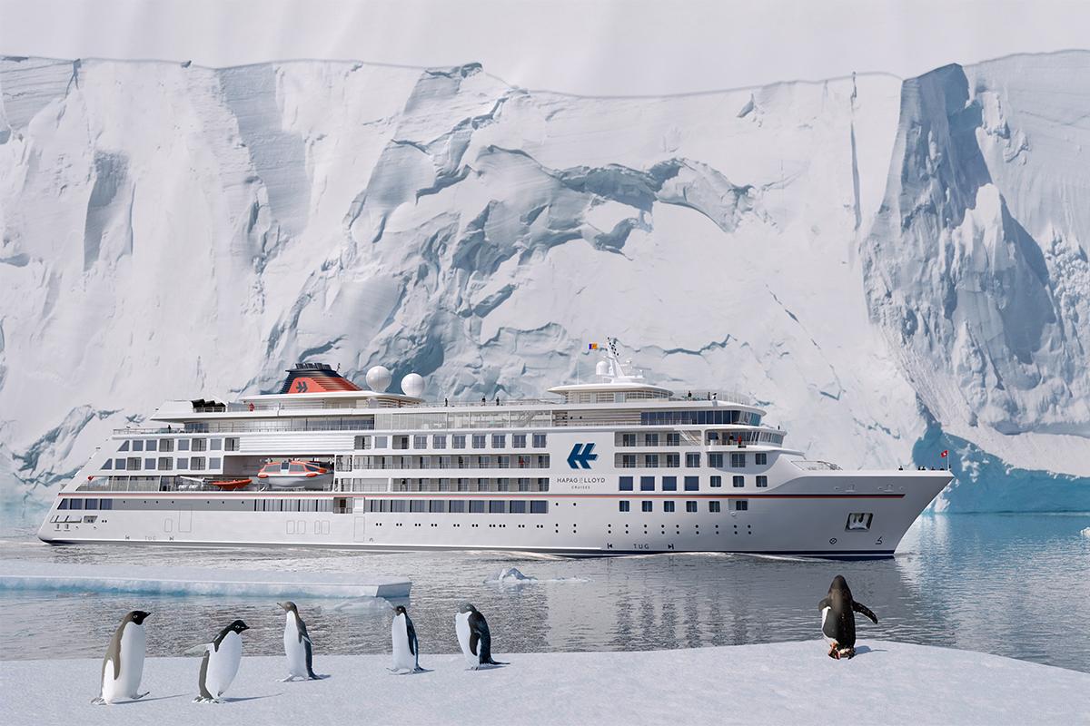 © Hapag Lloyd Cruises: Die höchste Eisklasse für Passagierschiffe ermöglicht Expeditionen in die Arktis und Antarktis