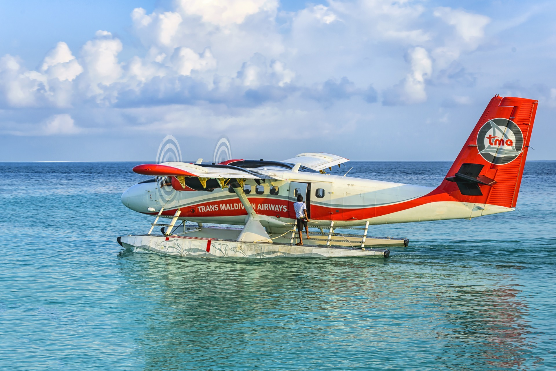 Airplane near the Maldives