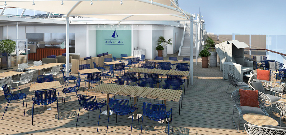 © TUI Cruises: Außenalster Bar & Grill aboard the Mein Schiff 6