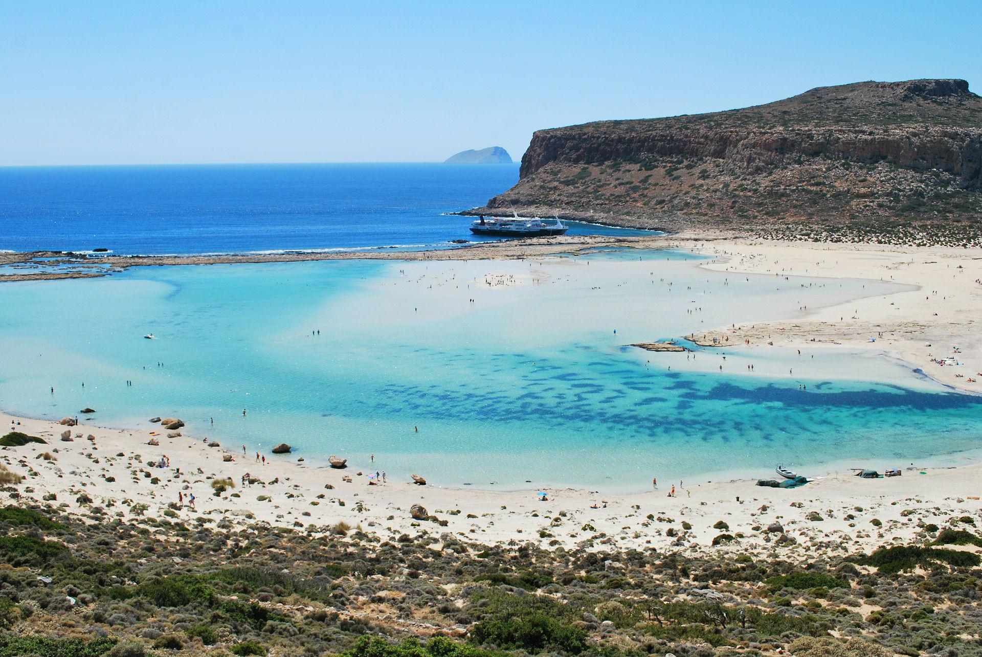 The lagoon Balos on Crete
