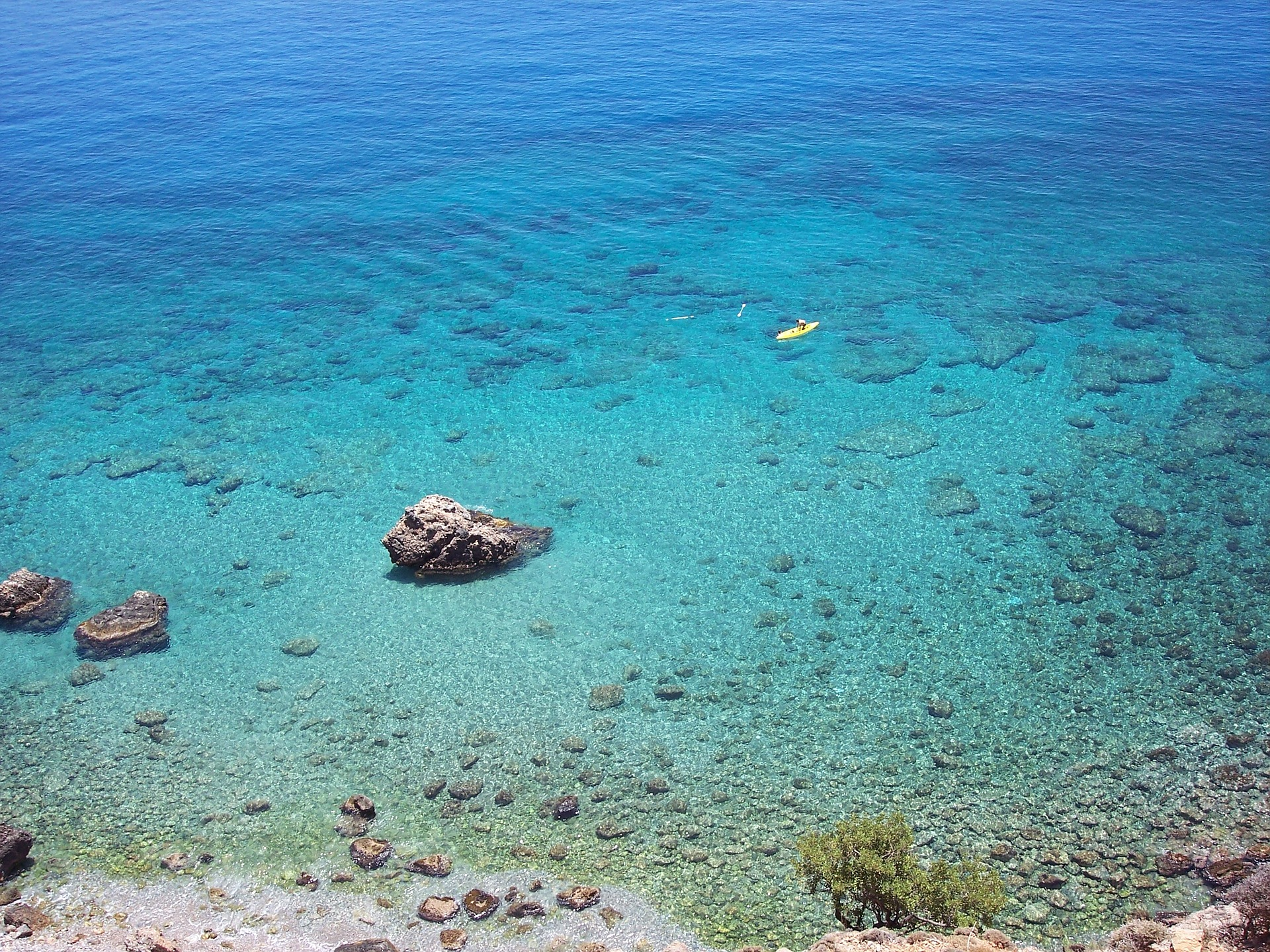 Crystal clear water on Crete