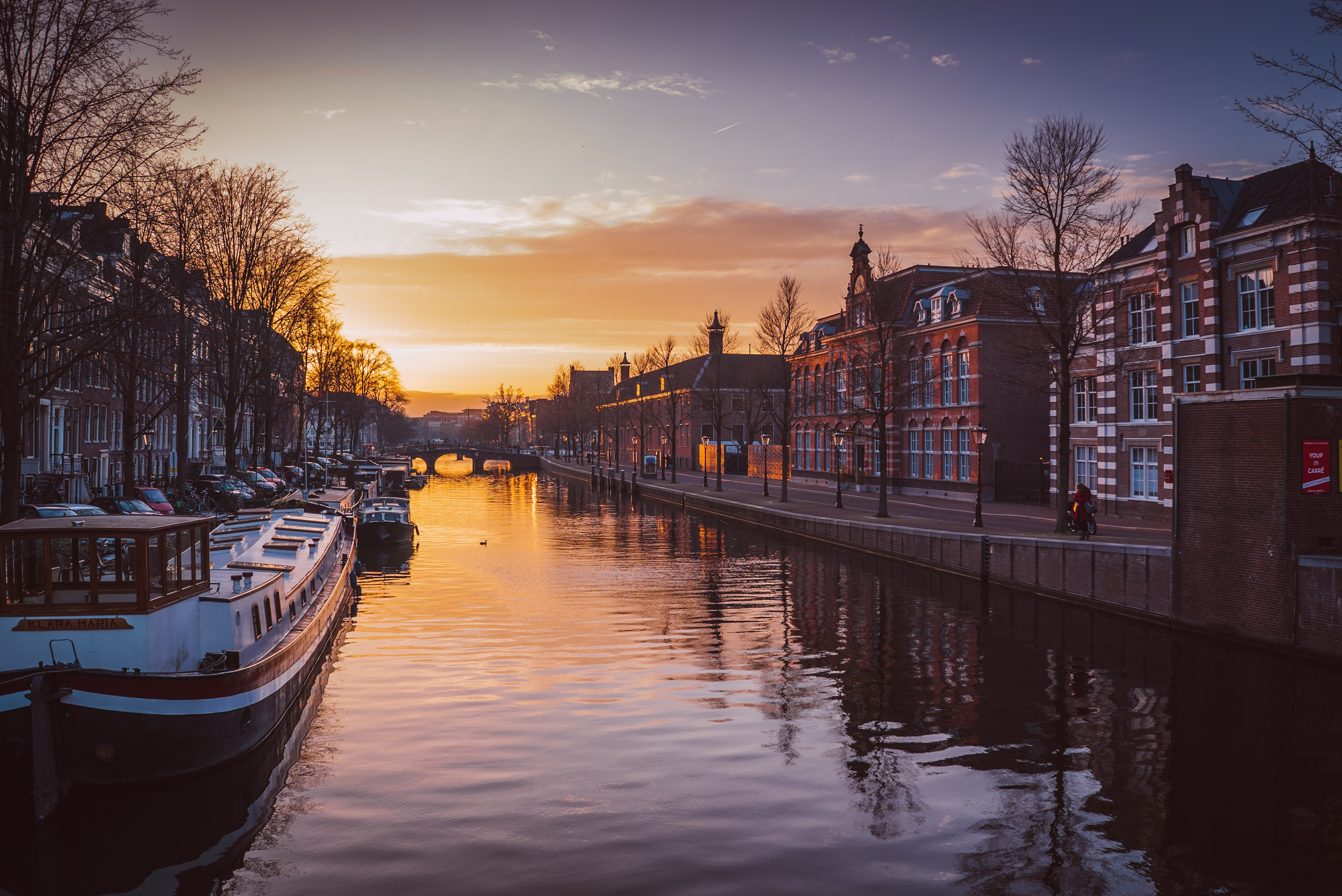Amsterdam with view to its canals