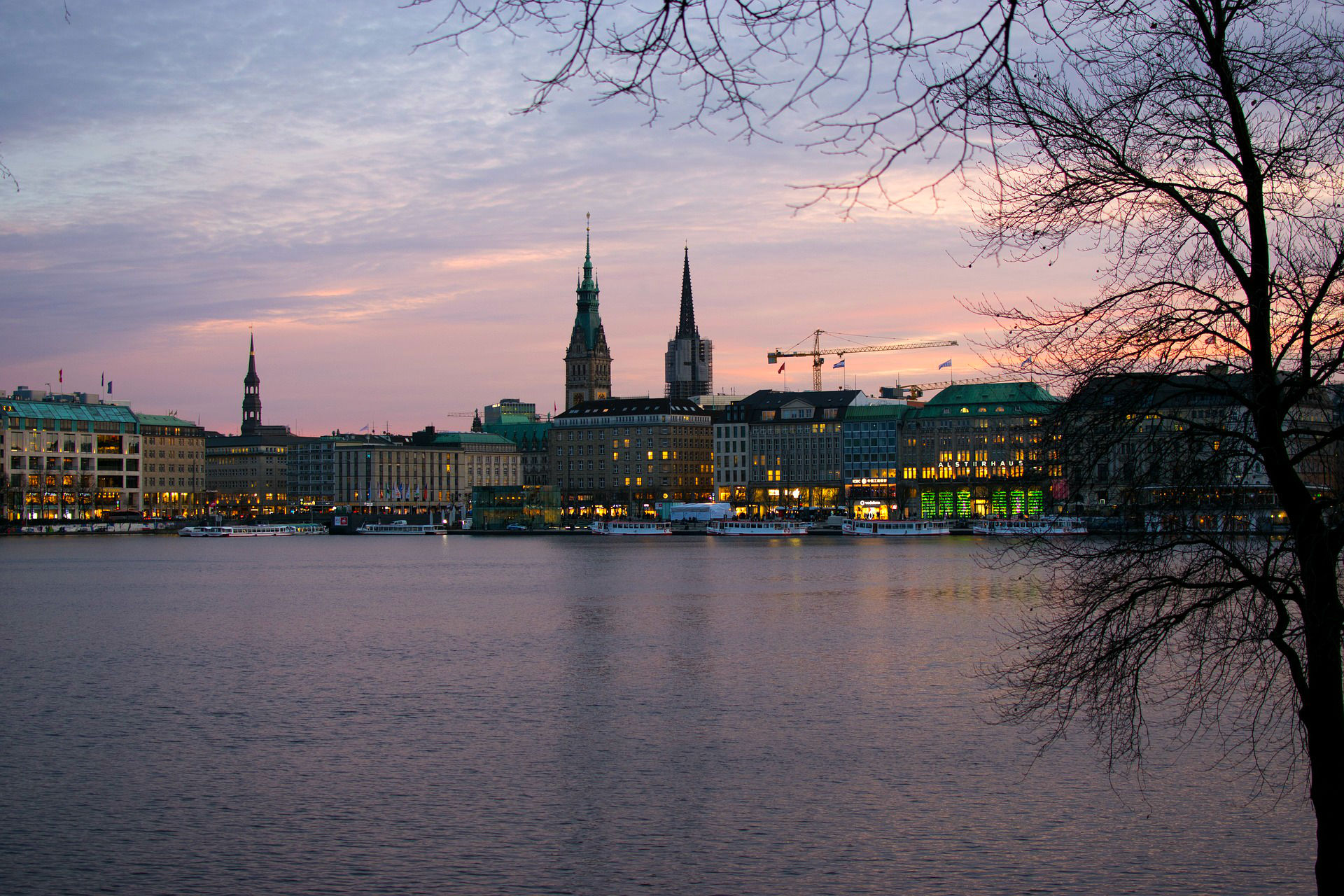 Hamburg at sunset