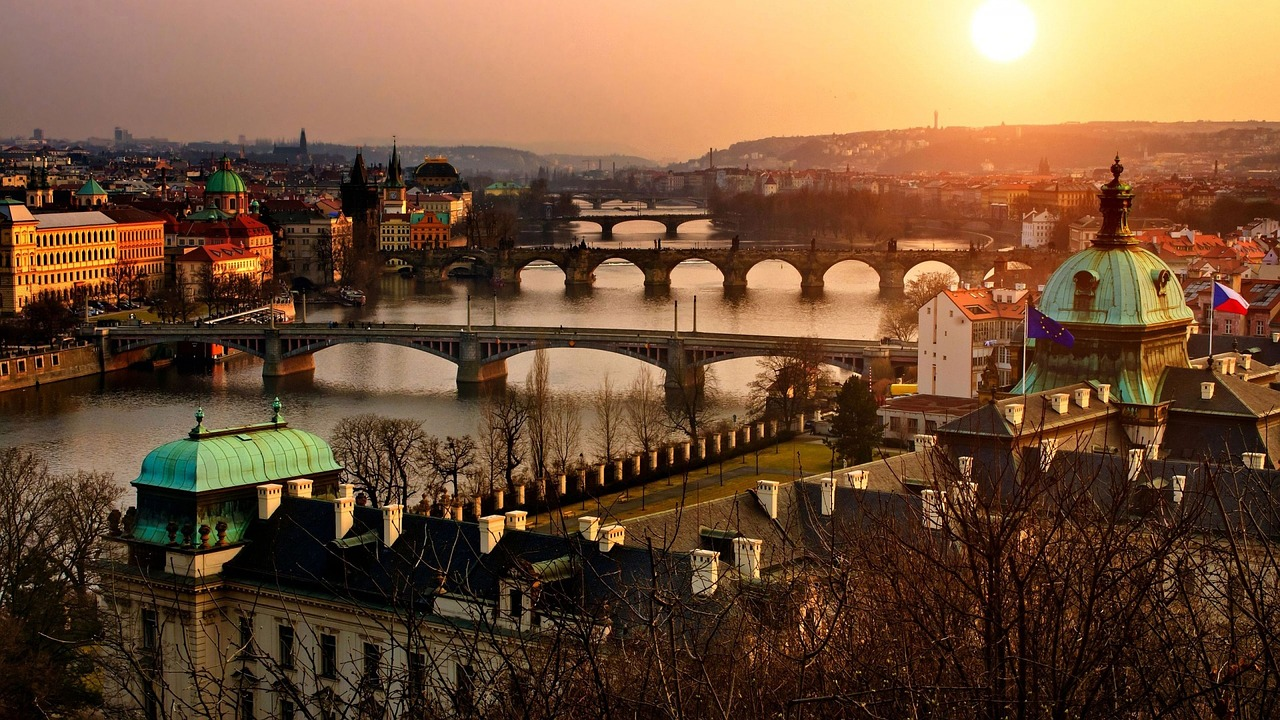 Panoramic view of the enchanting Prague