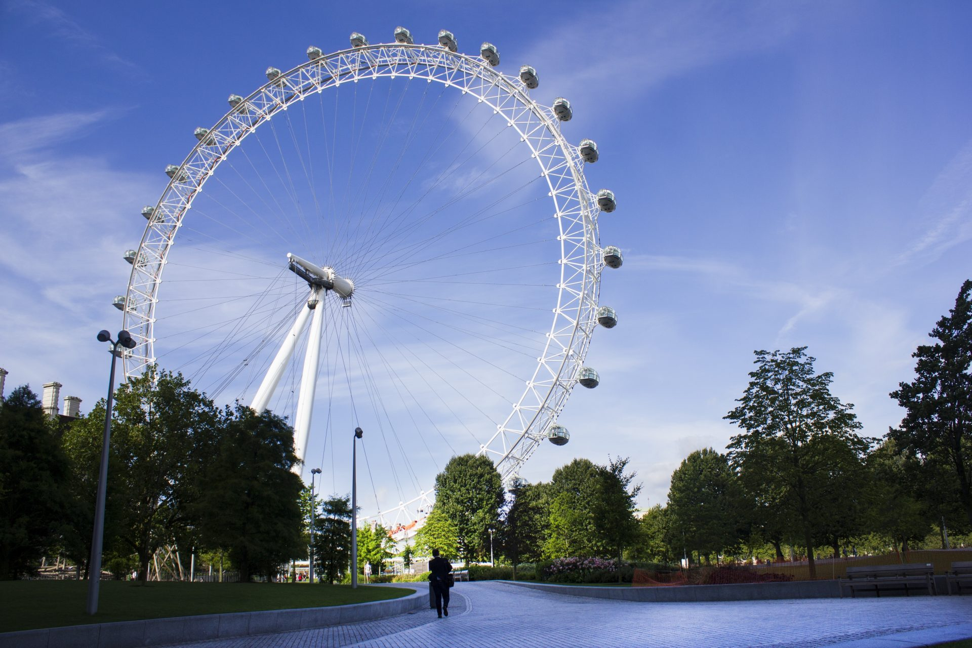 The London Eye, an emblem of London.