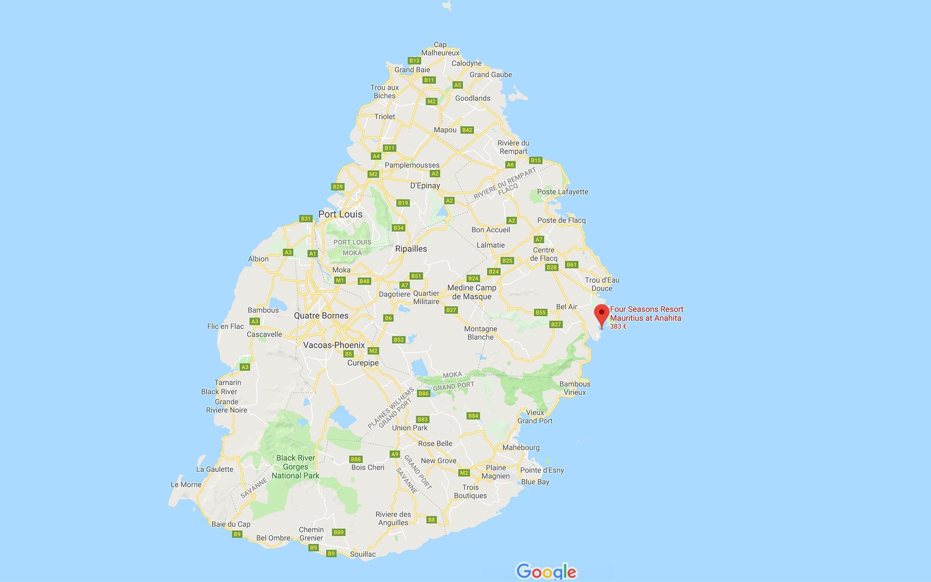 Mauritius Google Maps