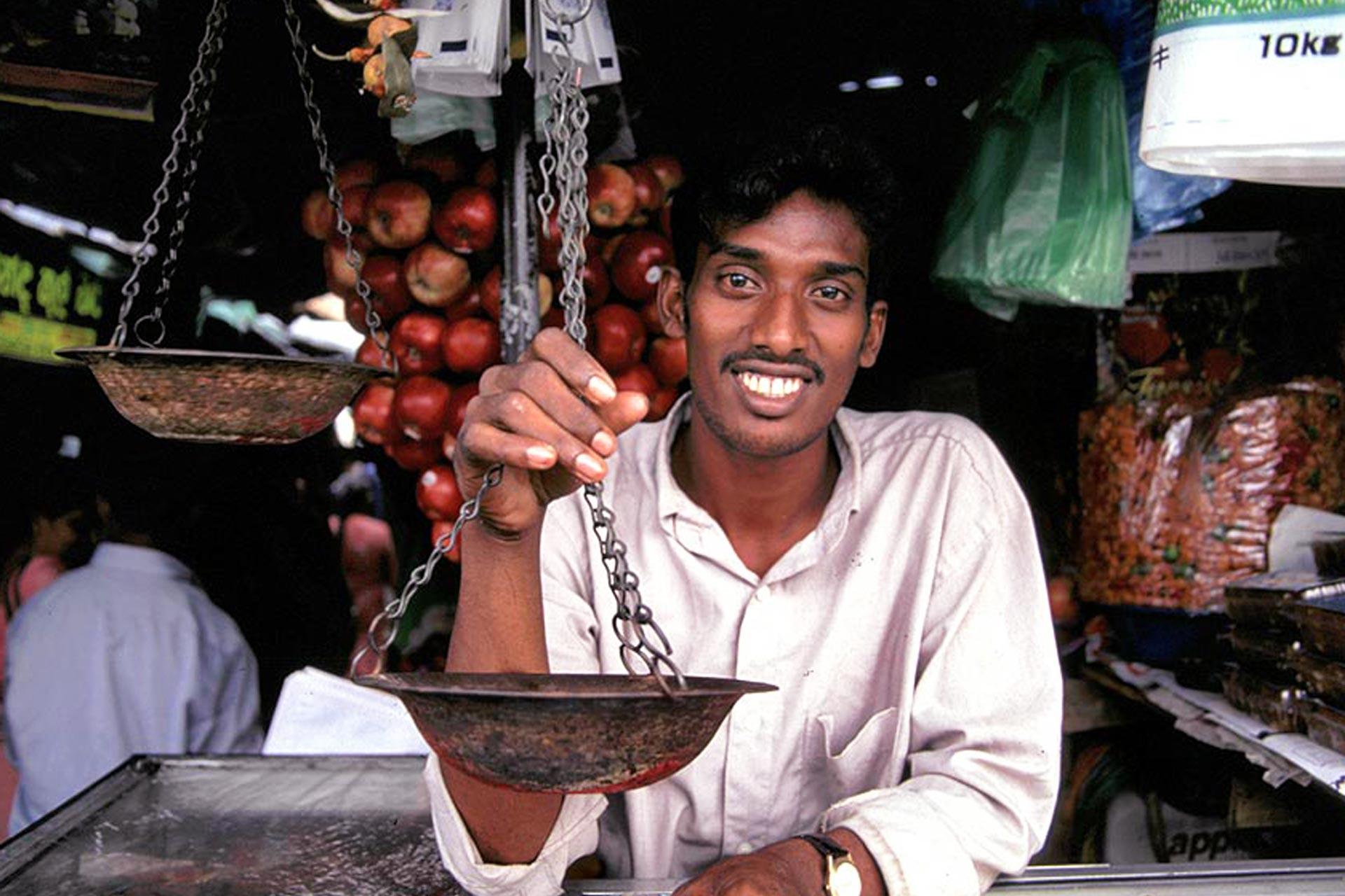 Netter Verkäufer in Sri Lanka