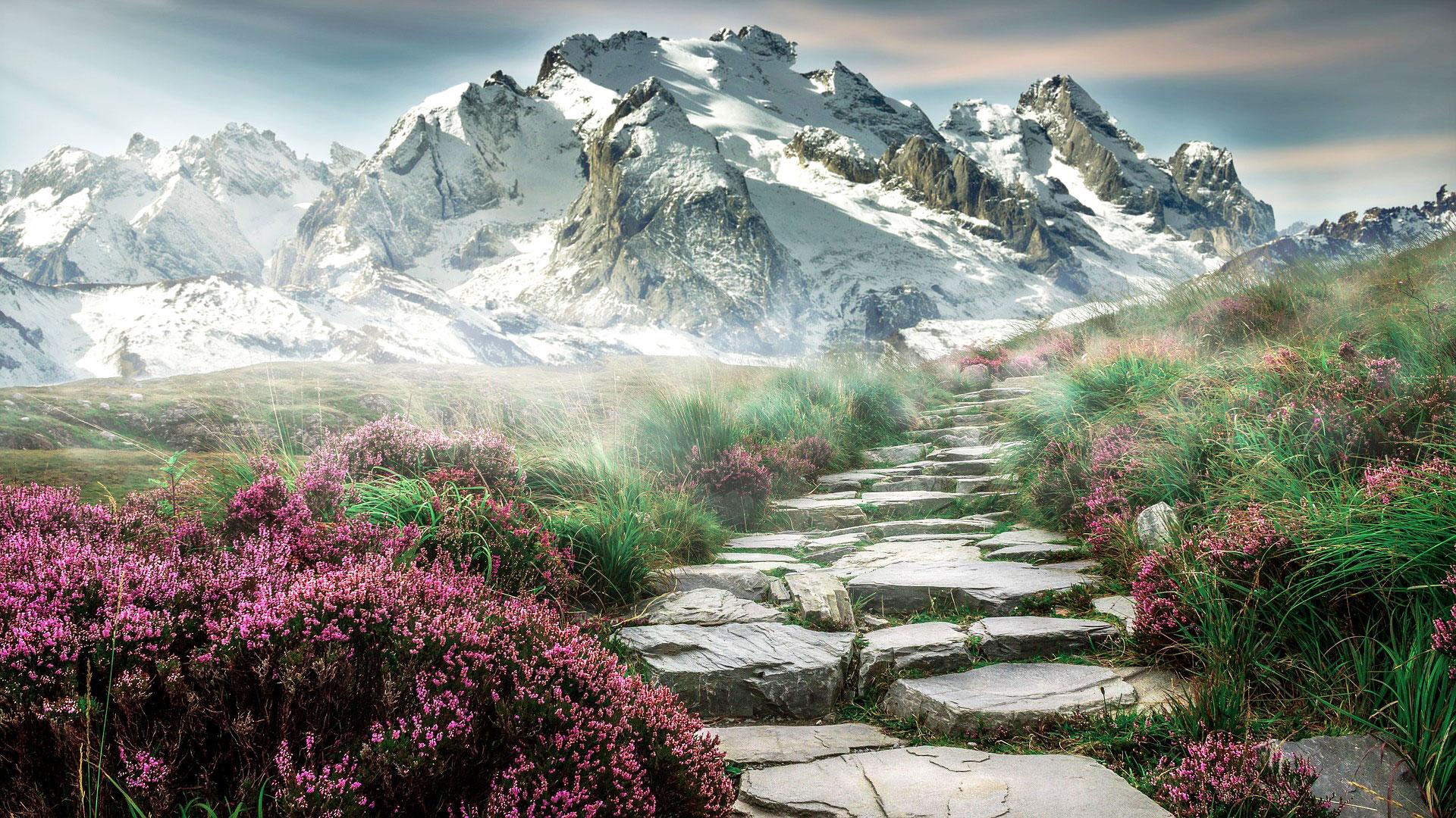 Weg in die Alpen