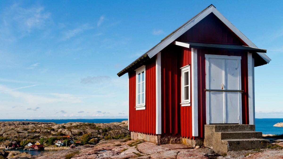 Hütte auf den Schäreninseln